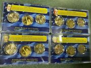 Four 2008 Presidential 3 Coin Sets - First Day Of Issue -uncirculated And Proof