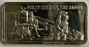 Americaand039s Greatest Events - First Step On The Moon - 1 Troy Oz .999 Silver Bar