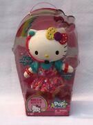 2013 Collectible Hello Kitty Poseable Pop Doll + Accessories And Removable Outfit