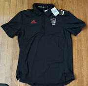 Menand039s Nc State Wolfpack Adidas Coaches Sideline Tech Polo Ge1764 Medium Nwt 75
