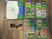 Leapfrog - School House - Leap Pad / 8 Book And Cartridge Lot - Levels 1 And 2