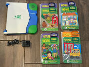 Leapfrog - School House - Leap Pad / 8 Book And Cartridge Lot - Levels 1 And 2 And 3