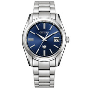The Citizen Aq4080-52l Eco-drive Solar Watch Blue Dial Sapphire Crystal 37.2 Mm