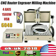 Usb 6040 4axis Cnc Router Engraver Vfd Drilling Milling Machine+remote 1500w Usa