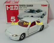 Tomica 005-3 Toyota Soarer 1/63 White Discontinued Red Tomy Logo