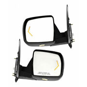For Toyota Tundra Mirror 2007-2013 Lh And Rh Pair W/ Memory Signal And Puddle Light