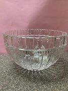 Vintage And Co Crystal Atlas Punch Bowl With Roman Numerals