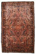 Handmade Antique Oriental Rug 3.6and039 X 5.5and039 110cm X 167cm 1920s - 1b843
