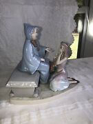 Lladro Porcelain Figurine Of Cinderella And Her Fairy Godmother, Discontinued