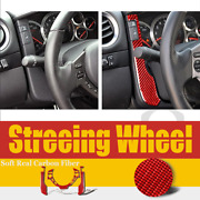Red Dashboard Steering Wheel Cover Trim Fit For Nissan Gtr R35 2008-2016 3pcs