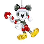 New In Box Sparkling Crystal Mickey Mouse Disney Christmas Ornament