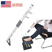 Large Reach Long Handle Toe Nail Clipper / Folding Adjustable Footstool Footrest
