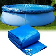 Above Ground Swimming Pool Cover For Winter Round Safety Pe Blue 6 8 10 12 Ft