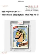 Fernando Tatis Jr. 2021 Topps Project 70 By Fucci Artist Proof 'd/51 Sold Out