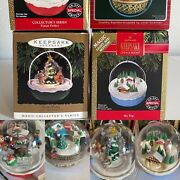 Lot Of 4 Hallmark Vtg 80and039s 90and039s Light And Motion Ornaments In Boxes