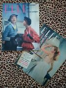 Elle Magazines Vintage 1940s 1950s French Fashion Woman Lifestyle Hats Beauty