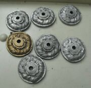 Lot Of 7 Vintage Lead Architectural Salvage Parts For Lamps Decor 1 1/2 Wide