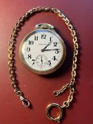 Antique Hamilton Railroad 974 Special Gold Filled Pocket Watch Running Nice