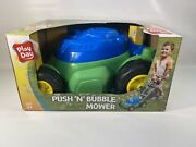 Play Day Push N Bubble Mower Lawn Toy Kids Pretend Play Yard Outdoor Outside.