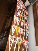 Vintage Mlb Mini Pennants Cardinals Cubs A's Giants Yankees Expos Red Sox Astros