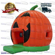 16x15ft Inflatable Halloween Pumpkin Bounce House With Air Blower