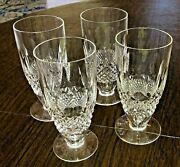 Set Of Four 4 Waterford Crystal Colleen Footed Iced Tea Glass Tumbler 6-5/16