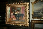 Outstanding Old Impressionist Piano Player Signed Bartlett