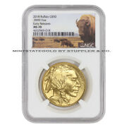 2018 50 Gold Buffalo Ngc Ms70 Early Release Bison Label 24-karat Bullion Coin