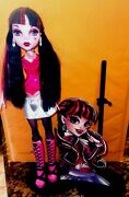 Monster High First Wave Draculaura Doll W/ Stand Mattel Approx 17