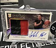 Lamelo Ball Signed Rookie Patch 2020 Immaculate Rookie Autograph Number 1 /49