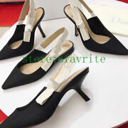 Silm Heels Sandals Pointed Shoes Classic Pump Sandals Fashion 2021new Women33-42