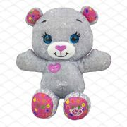 Original Doodle Bear 25th Anniversary Edition Grey Pink Plush Only No Markers