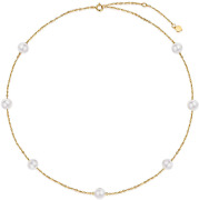Yafeeso Solid 14k Gold Pearl Bracelet For Women Girls Tin Cup Freshwater Culture