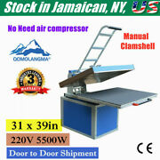 Ny 31 X 39in Large Format Manual Clamshell Heat Press Transfer Machine 220v 50hz