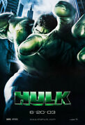 Original New The Incredible Hulk Rare Vers Movie Poster 27x40 Ds 2003 Marvel