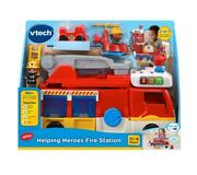 Vtech Helping Heroes Fire Station/truck 180+ Songs-melodies-sounds And Phrases New