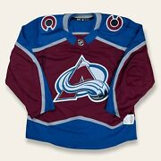 Adidas Nhl Authentic Mic Made In Canada Colorado Avalanche Hockey Jersey Size 54