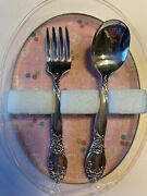 Baby First Fork And Spoon Set Community Silver Plated New
