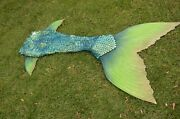 Professional Finfolk Part Silicone Mermaid Tail Mythic Little Mermaid Green Xs