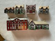 Wade Whimsey-on-why English Miniature Porcelain Village 3 Sets Complete W/box +