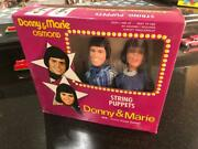 Vintage Tv's Donny And Marie Osmond String Puppets Set Old Store Stock Mib Puppet