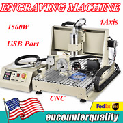 1.5kw Usb 6040 4 Axis Cnc Router Engraver Engraving Mill Carving Machine Desktop
