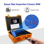 164ft Ip68 12leds 720p Industrial Pipe Endoscope Wall Sewer Camera Video Dvr 8gb
