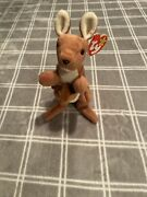 Ty Beanie Baby Pouch The Kangaroo Rare Retired Mint