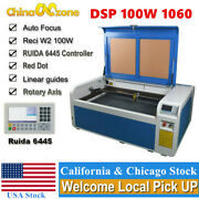 Dsp Co2 100w 1060 Usb Laser Machine Auto-focus Engraver Cutting Rotary Axis Us