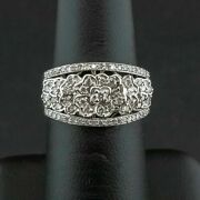 Pa2 18ct White Gold 0.60ct Diamond Floral Cluster Ring 6.7gms Size M