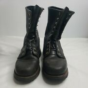 Red Wing Boots Womens Sz 9.5 B Leather Wildland Firefighting Protective Gear Guc