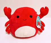 Squishmallows Kellytoy Official Sealife Animal 8 Carlos The Red Crab Plush Doll