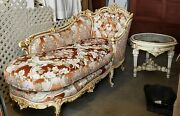Stunning Baroque Rococo Chaise Lounge Fainting Couch With Matching Table