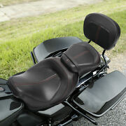 Driver And Passenger Seat Sissy Bar Pad Fit For Harley Touring Electra Glide 09-21